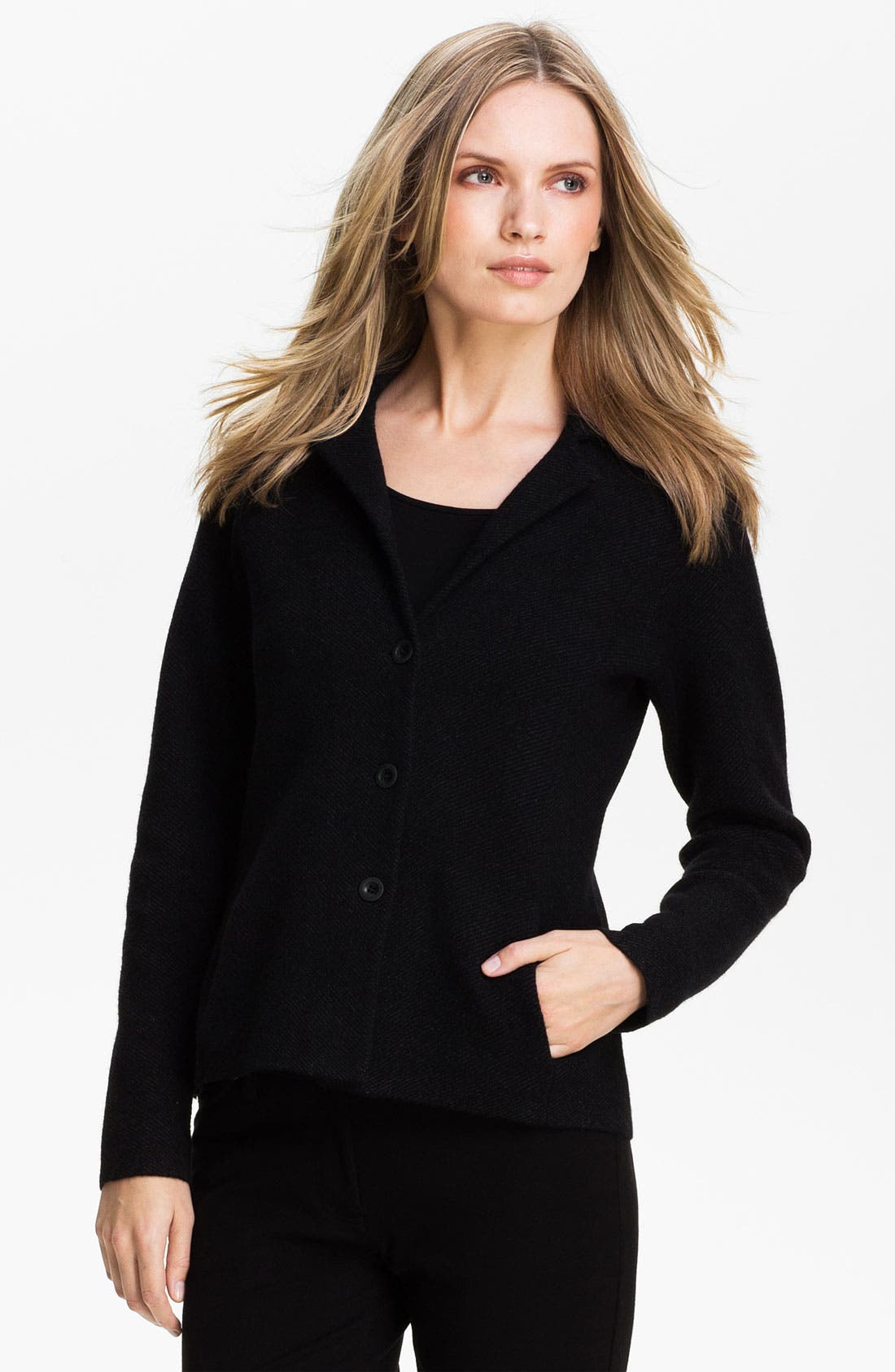 Alternate Image 1 Selected - Eileen Fisher Notch Collar Jacket (Petite)