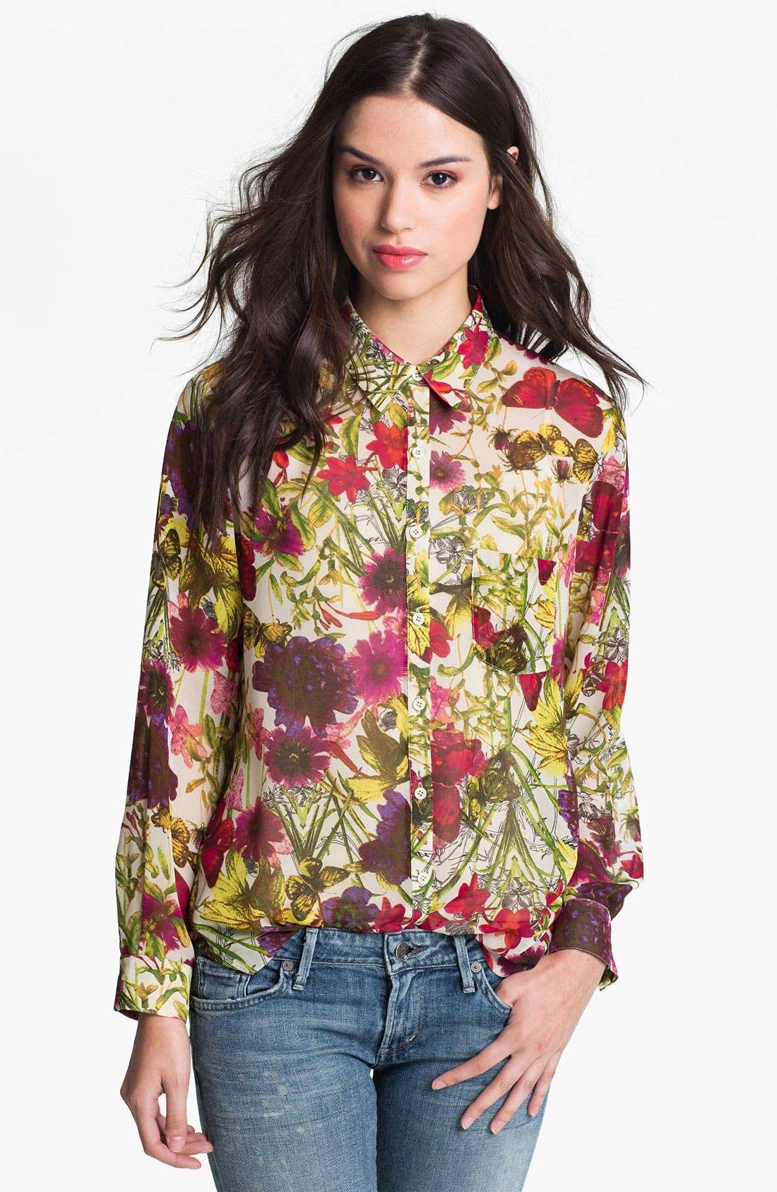 Main Image - Bellatrix Botanical Print Chiffon Shirt