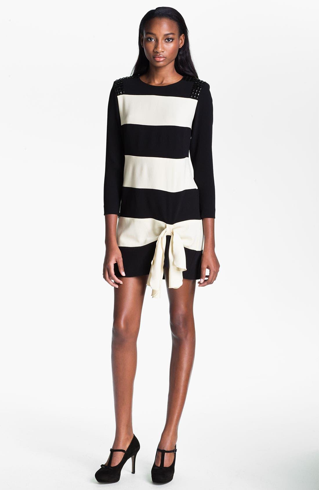 Main Image - Skaist-Taylor 'Rosie' Stud & Stripe Dress