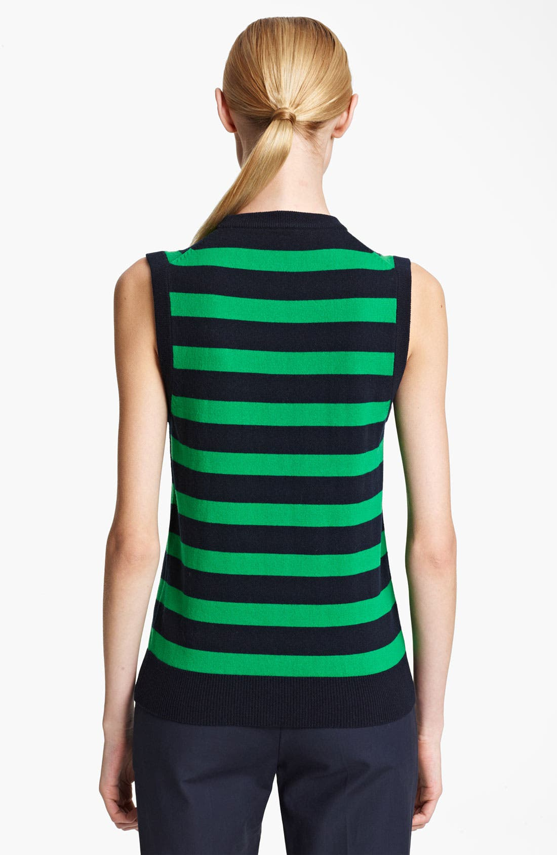 Alternate Image 2  - Michael Kors Stripe Cashmere Shell