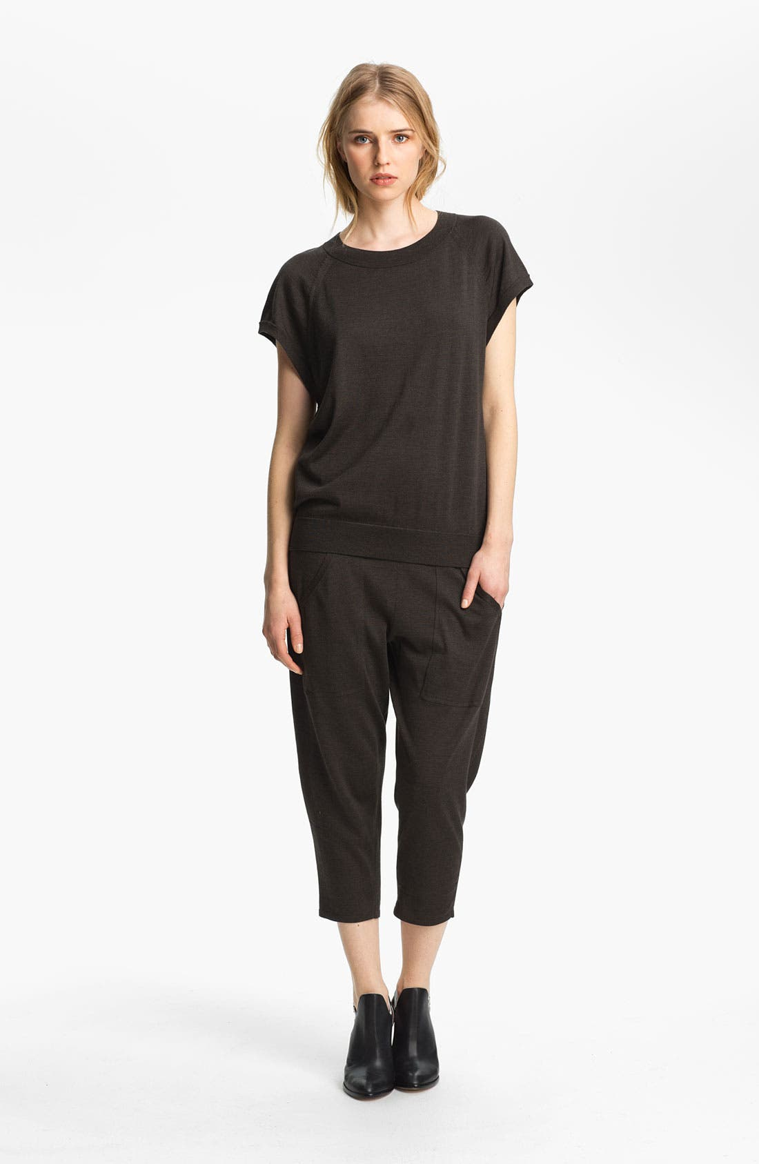 Alternate Image 3  - Theyskens' Theory 'Kriya Crop Yora' Knit Pants