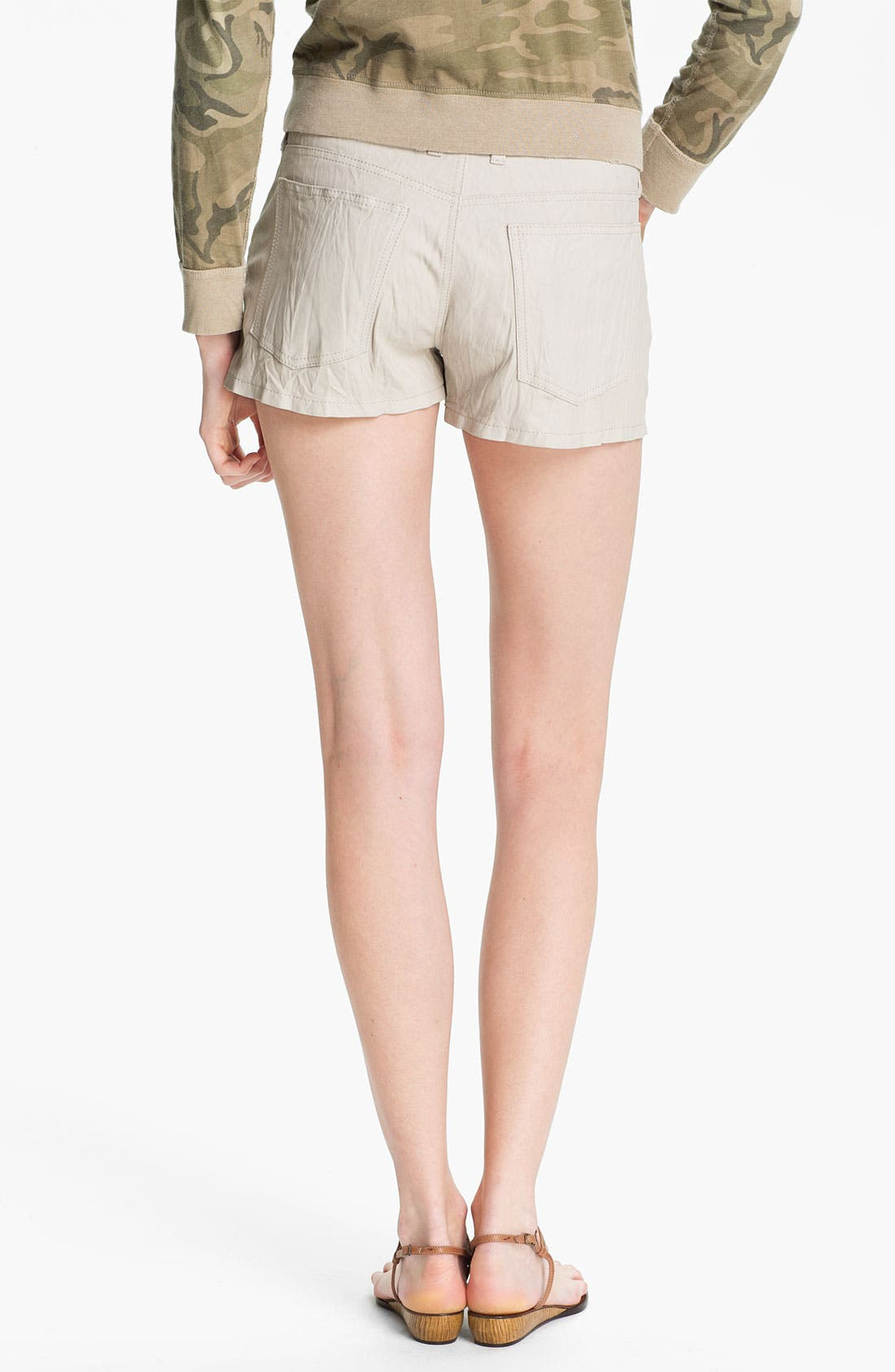 Alternate Image 2  - Current/Elliott 'The Boyfriend' Leather Shorts
