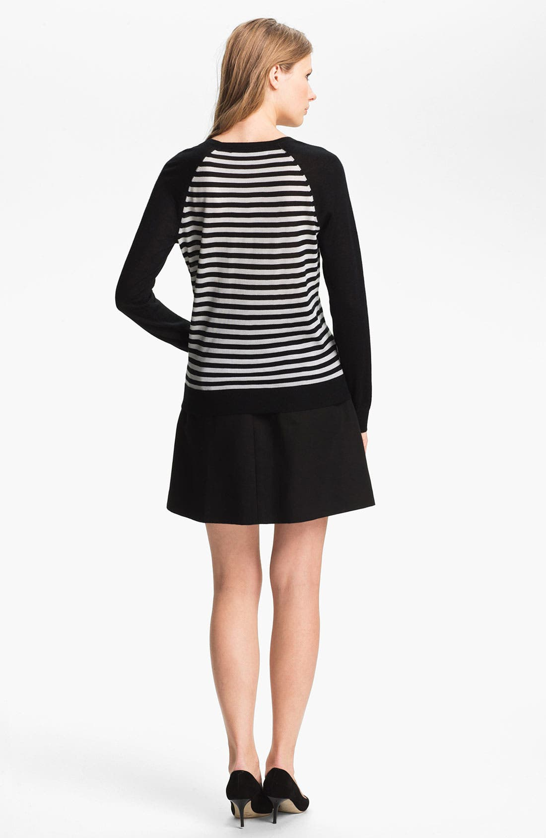Alternate Image 4  - Miss Wu 'Sofie' Stripe Cashmere Sweater (Nordstrom Exclusive)