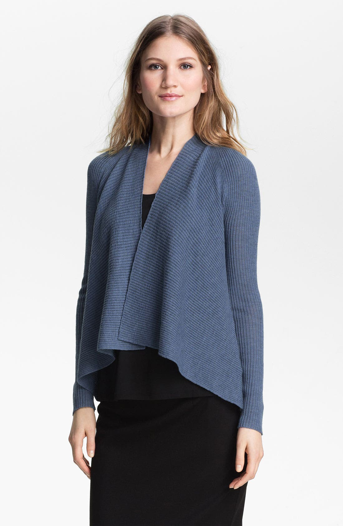 Main Image - Eileen Fisher Short Cardigan (Petite)