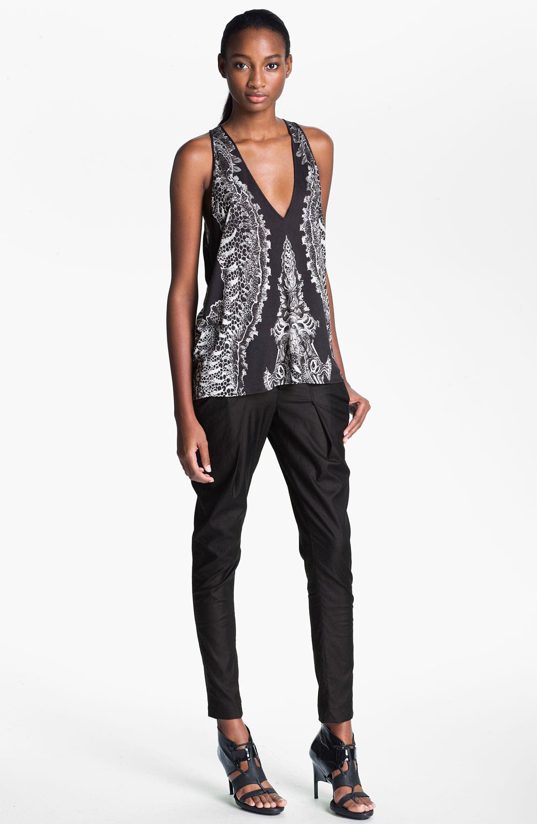 Alternate Image 3  - Helmut Lang 'Rift' Stretch Leather Crop Leggings