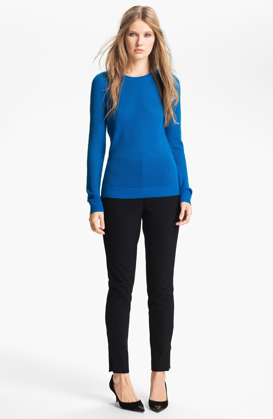 Alternate Image 2  - Miss Wu 'Sofie' Stitch Detail Cashmere Sweater (Nordstrom Exclusive)