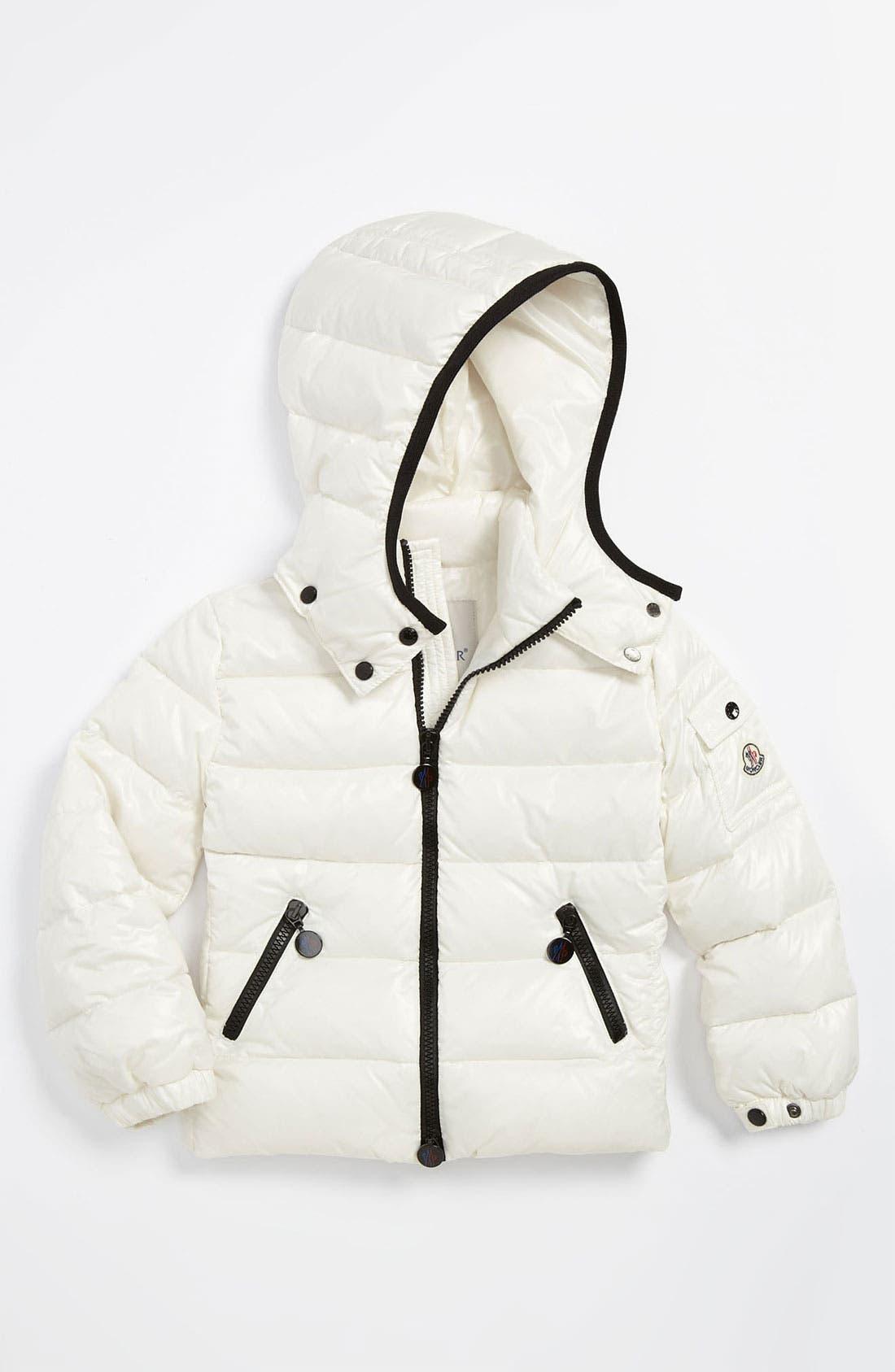 Main Image - Moncler 'Bady' Shiny Puffer Jacket (Little Girls & Big Girls)