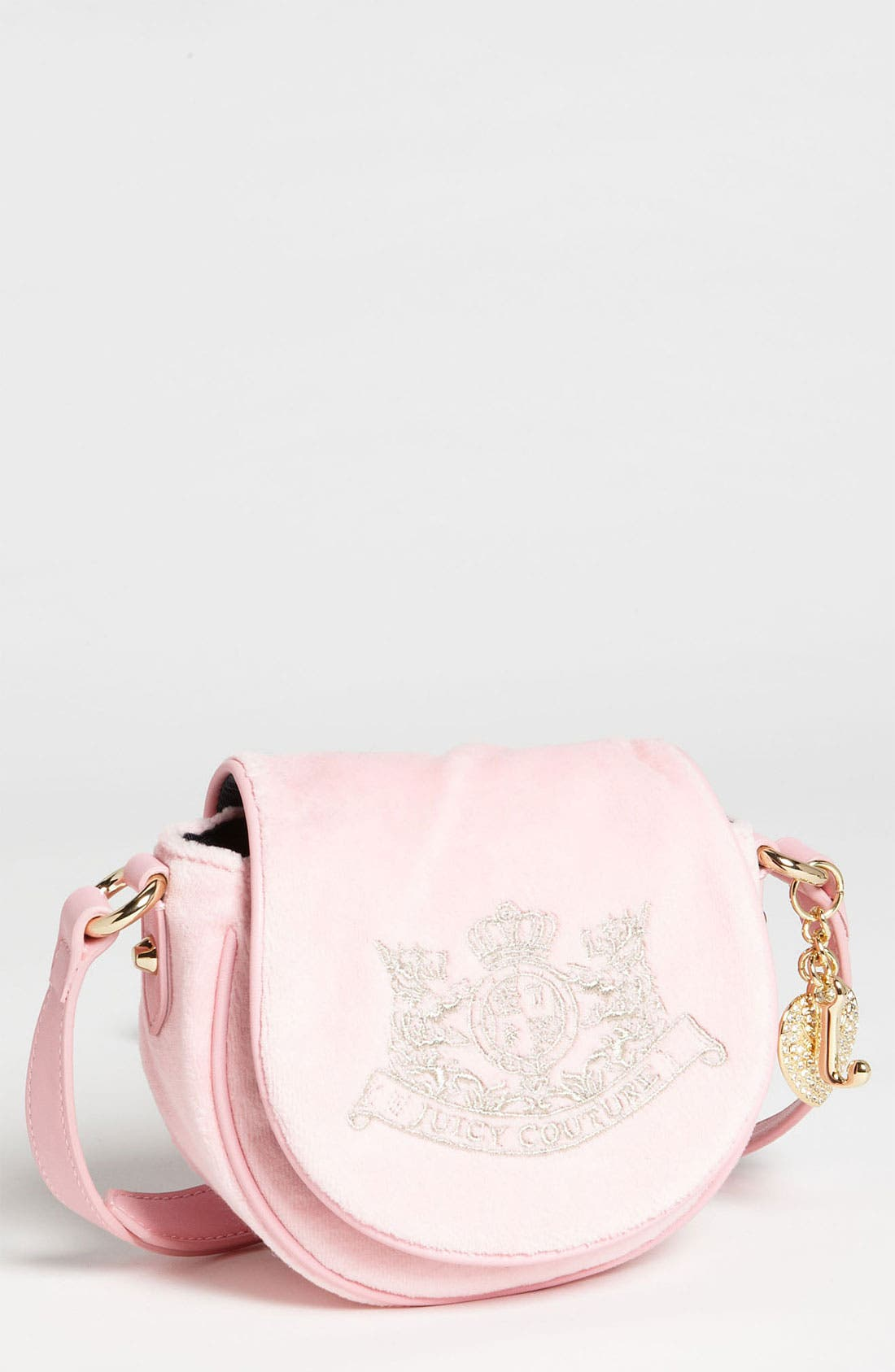 Alternate Image 1 Selected - Juicy Couture Velour Crossbody Bag (Girls)