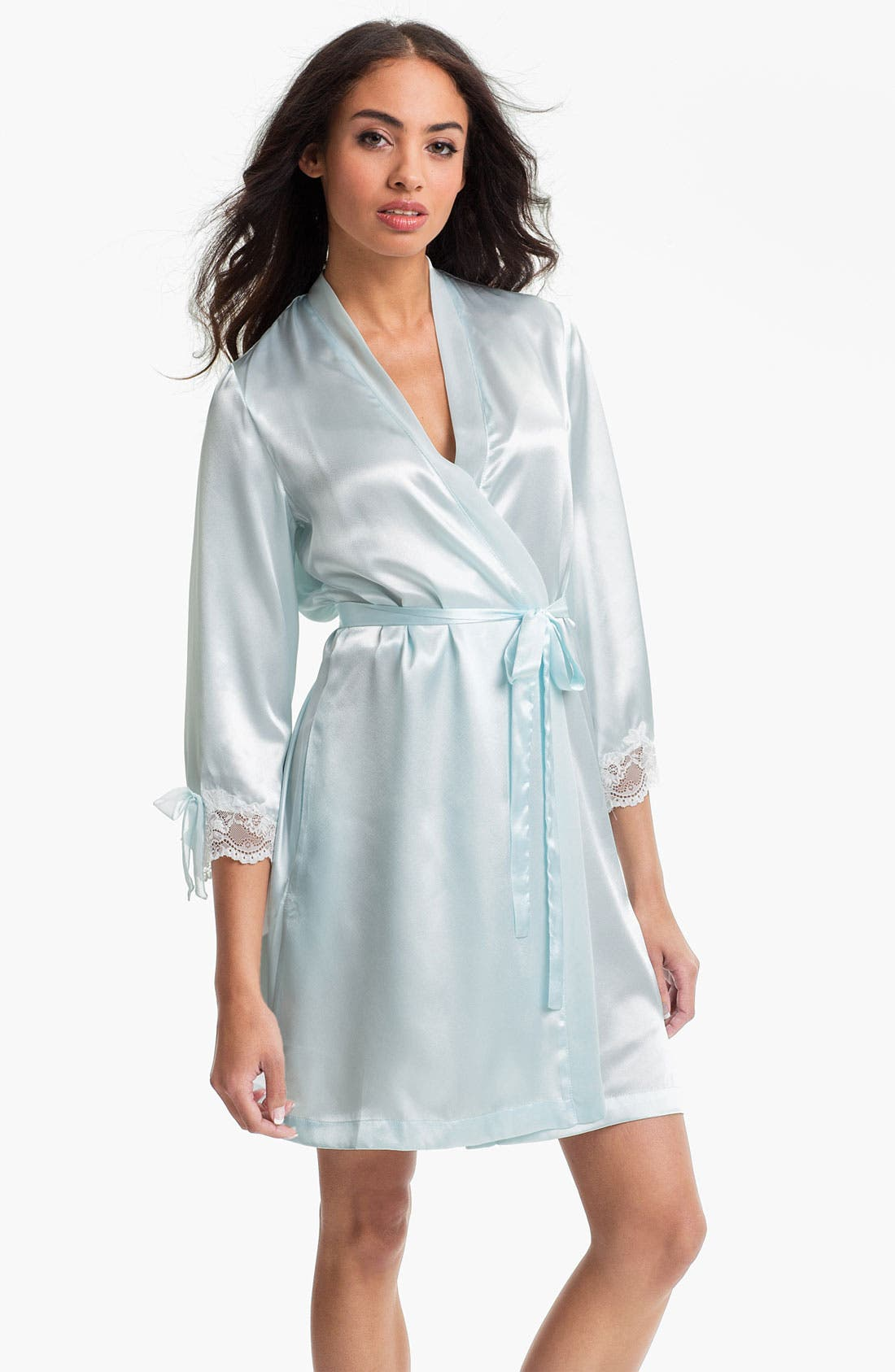 Alternate Image 1 Selected - Oscar de la Renta Sleepwear 'Lovely in Lace' Short Robe