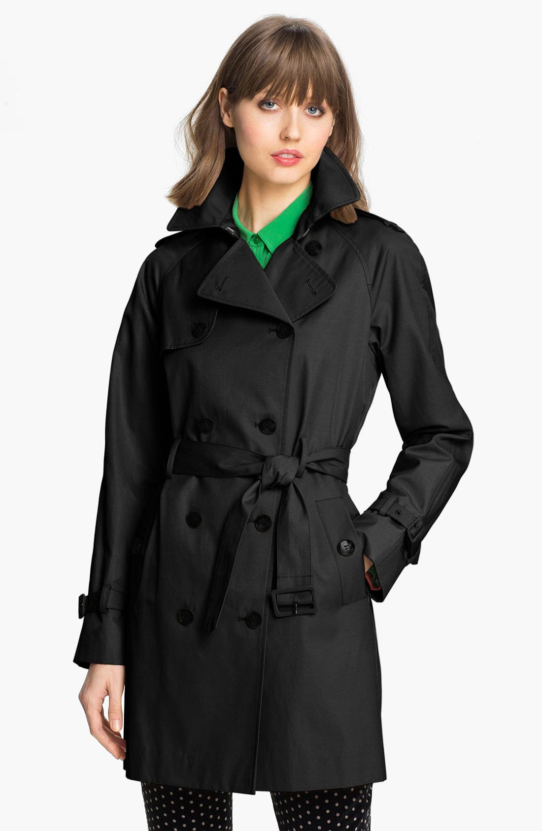 Alternate Image 1 Selected - Calvin Klein 'Legacy' Poplin Trench Coat (Online Only)