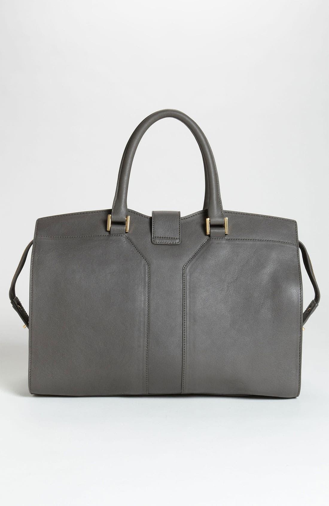 Alternate Image 4  - Saint Laurent 'Ligne Y' Leather Satchel, Large