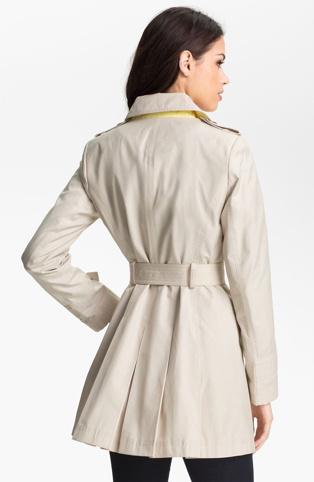 Alternate Image 2  - DKNY Pleat Back Trench Coat