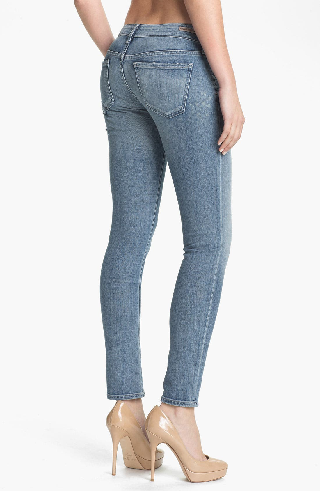 Alternate Image 2  - Citizens of Humanity 'Racer' Low Rise Skinny Jeans (Mystic)