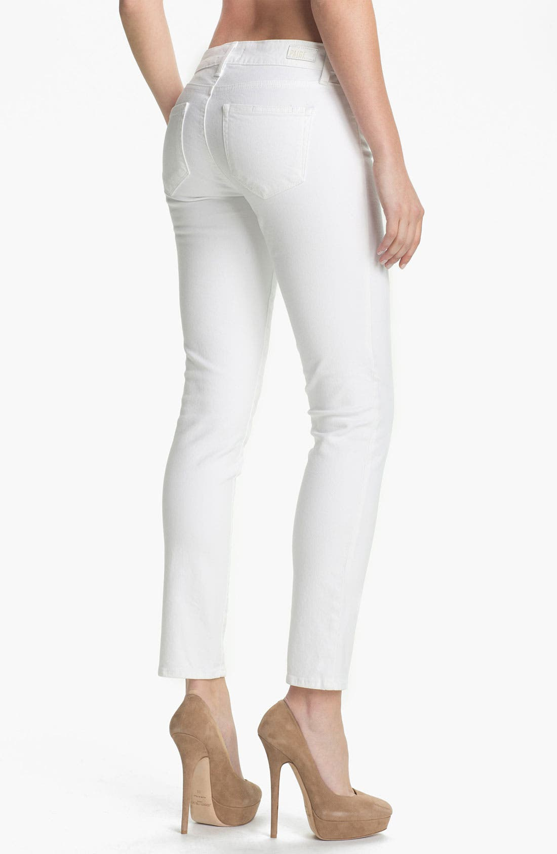 Alternate Image 2  - PAIGE 'Skyline' Ankle Peg Skinny Jeans (Optic White)