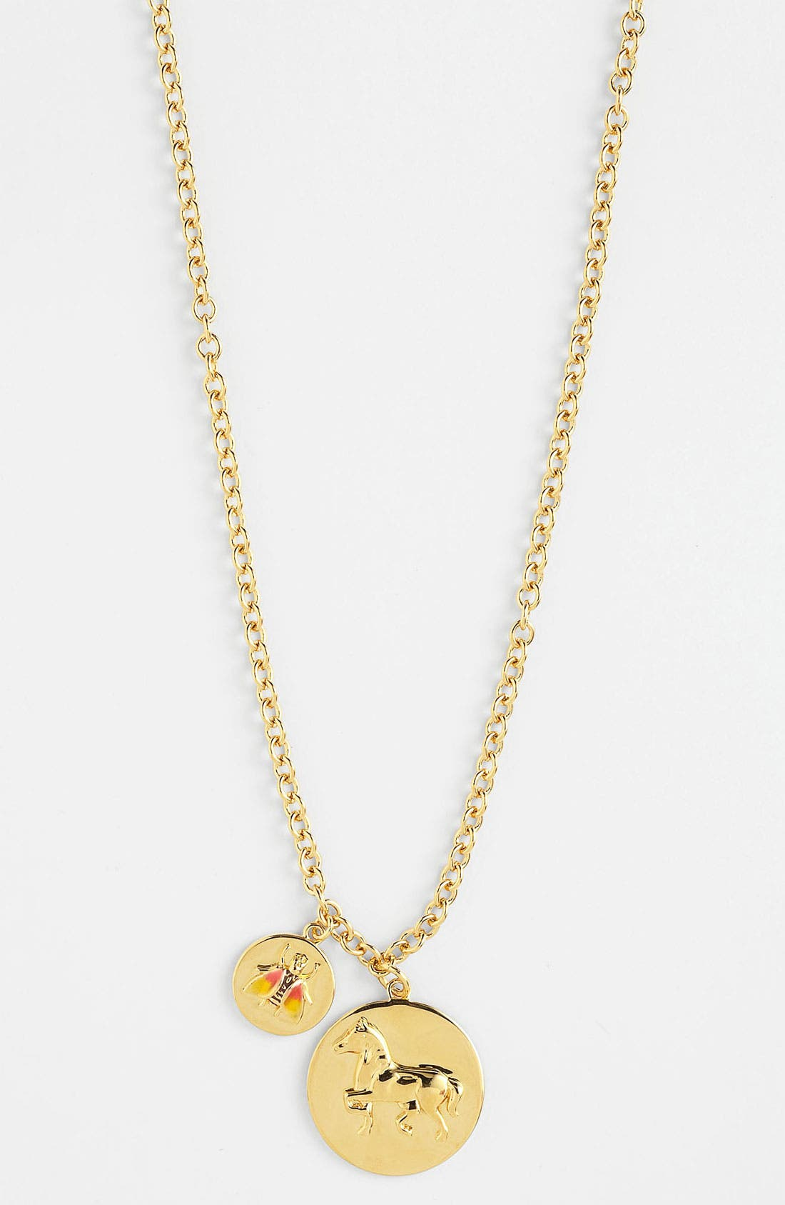 Alternate Image 1 Selected - Tory Burch 'Buddy' Long Cluster Pendant Necklace