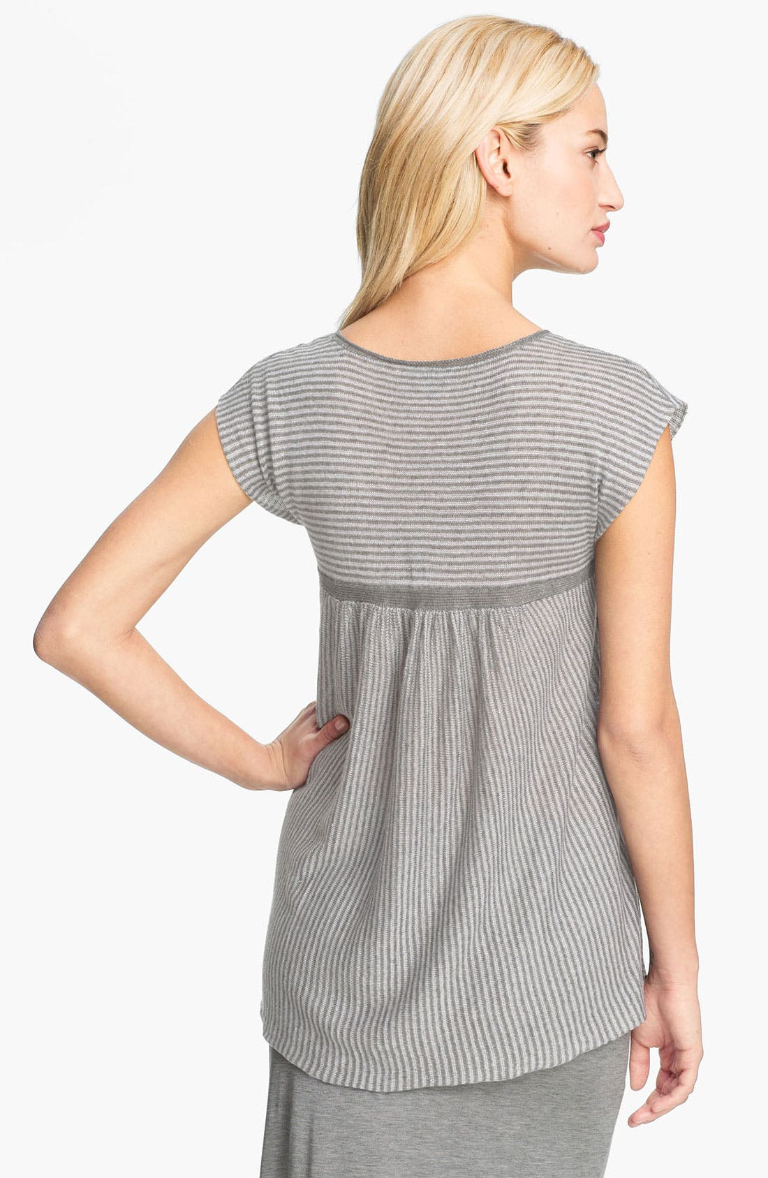 Alternate Image 2  - Eileen Fisher Stripe Delave Linen Top