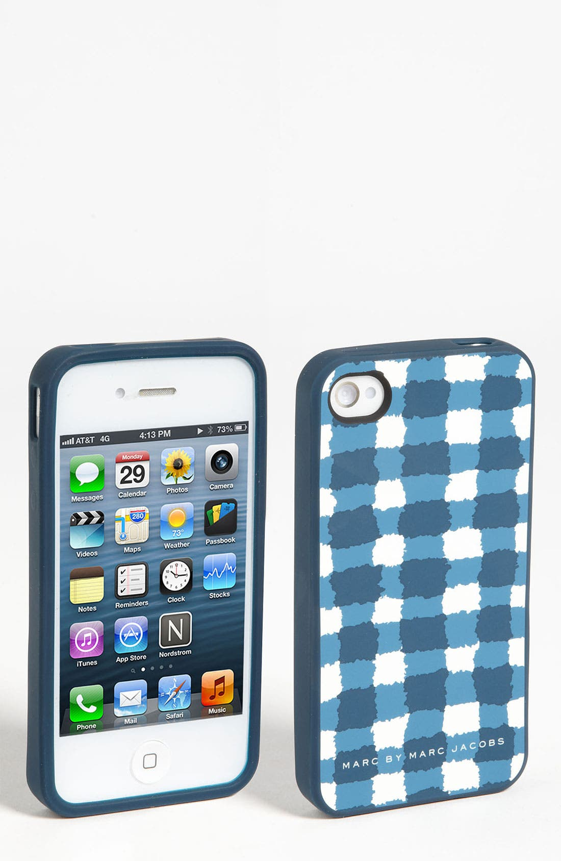 Alternate Image 1 Selected - MARC BY MARC JACOBS 'Molly' Check iPhone 5 & 5S Case