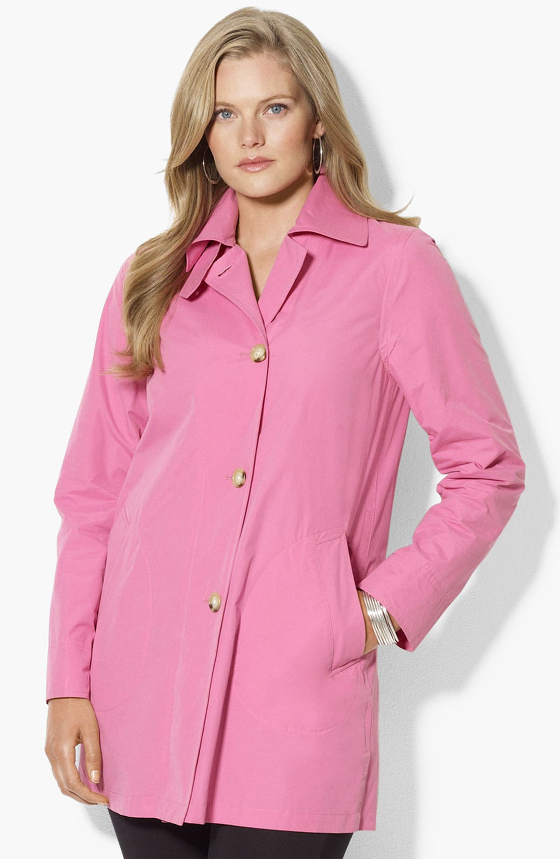 Alternate Image 1 Selected - Lauren Ralph Lauren Stand Collar Jacket (Plus)