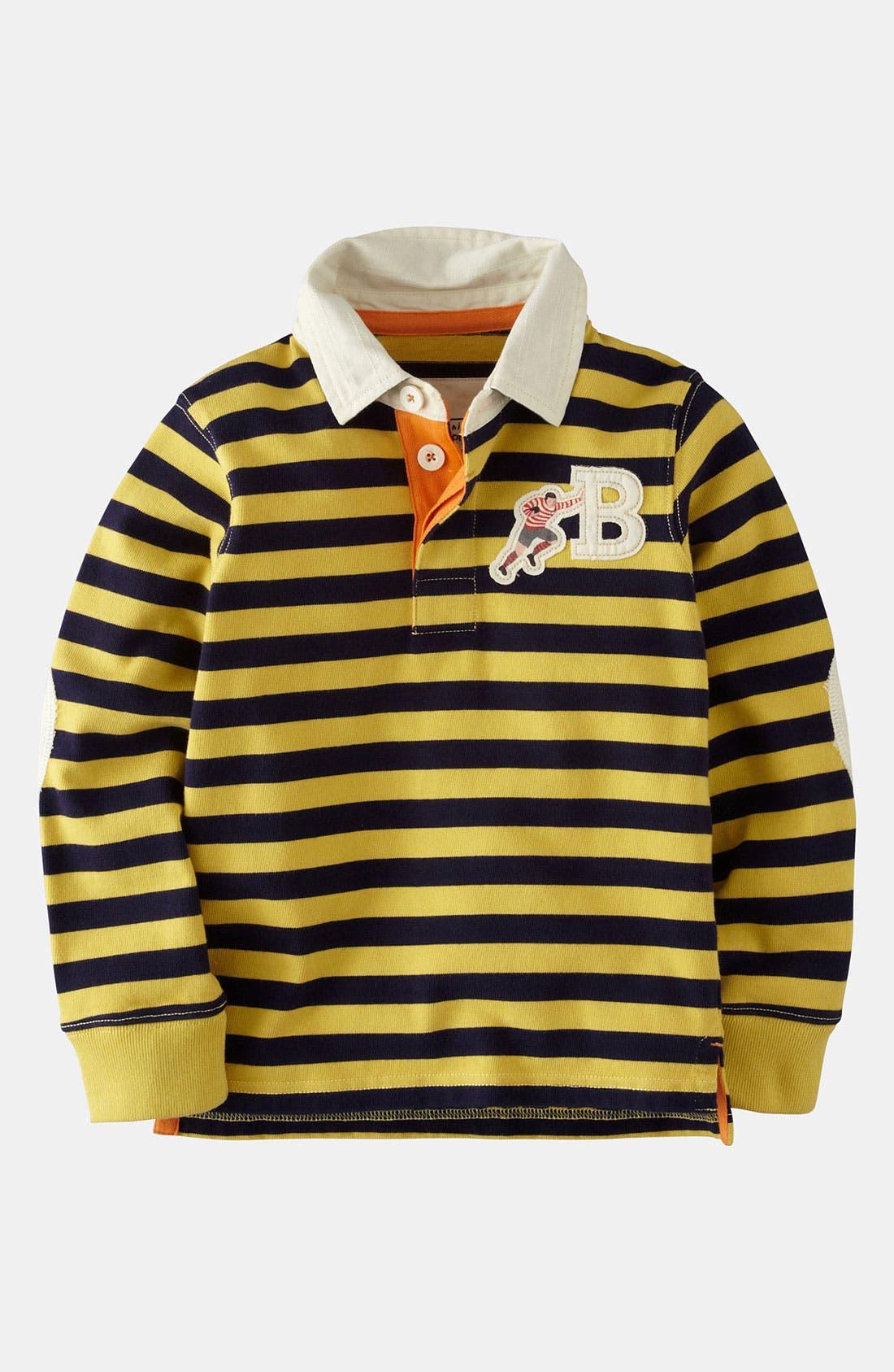 Main Image - Mini Boden 'Rugby' Shirt (Little Boys & Big Boys)
