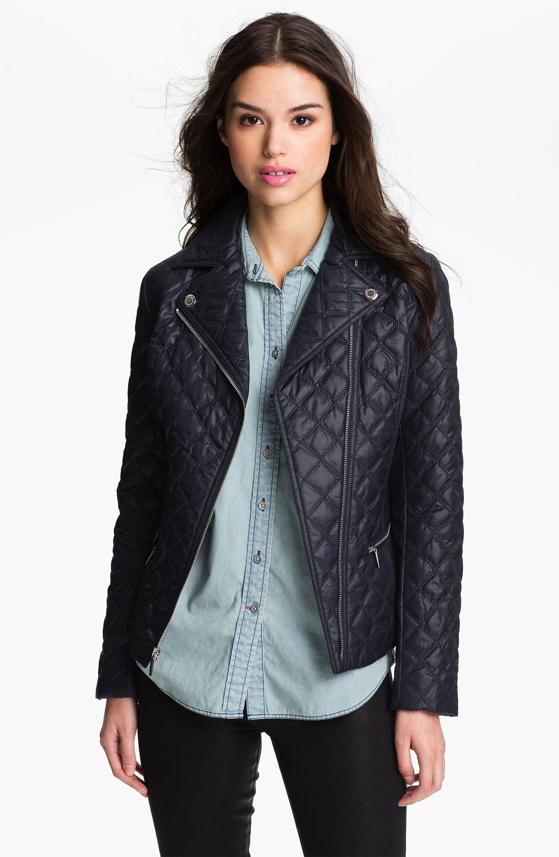 Alternate Image 1 Selected - Laundry by Shelli Segal Quilted Moto Jacket