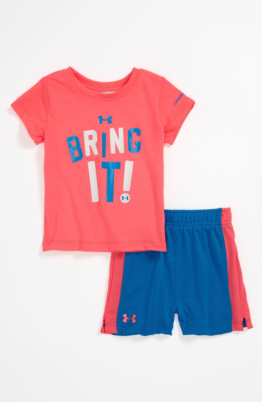 Main Image - Under Armour T-Shirt & Shorts (Infant)