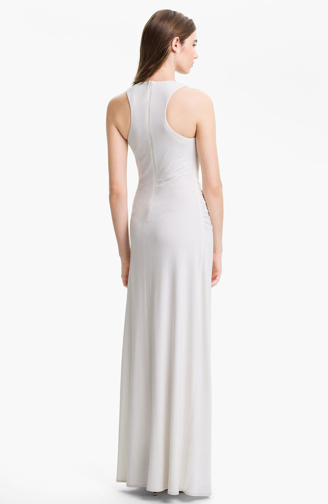 Alternate Image 2  - Laundry by Shelli Segal Embellished Racerback Jersey Gown