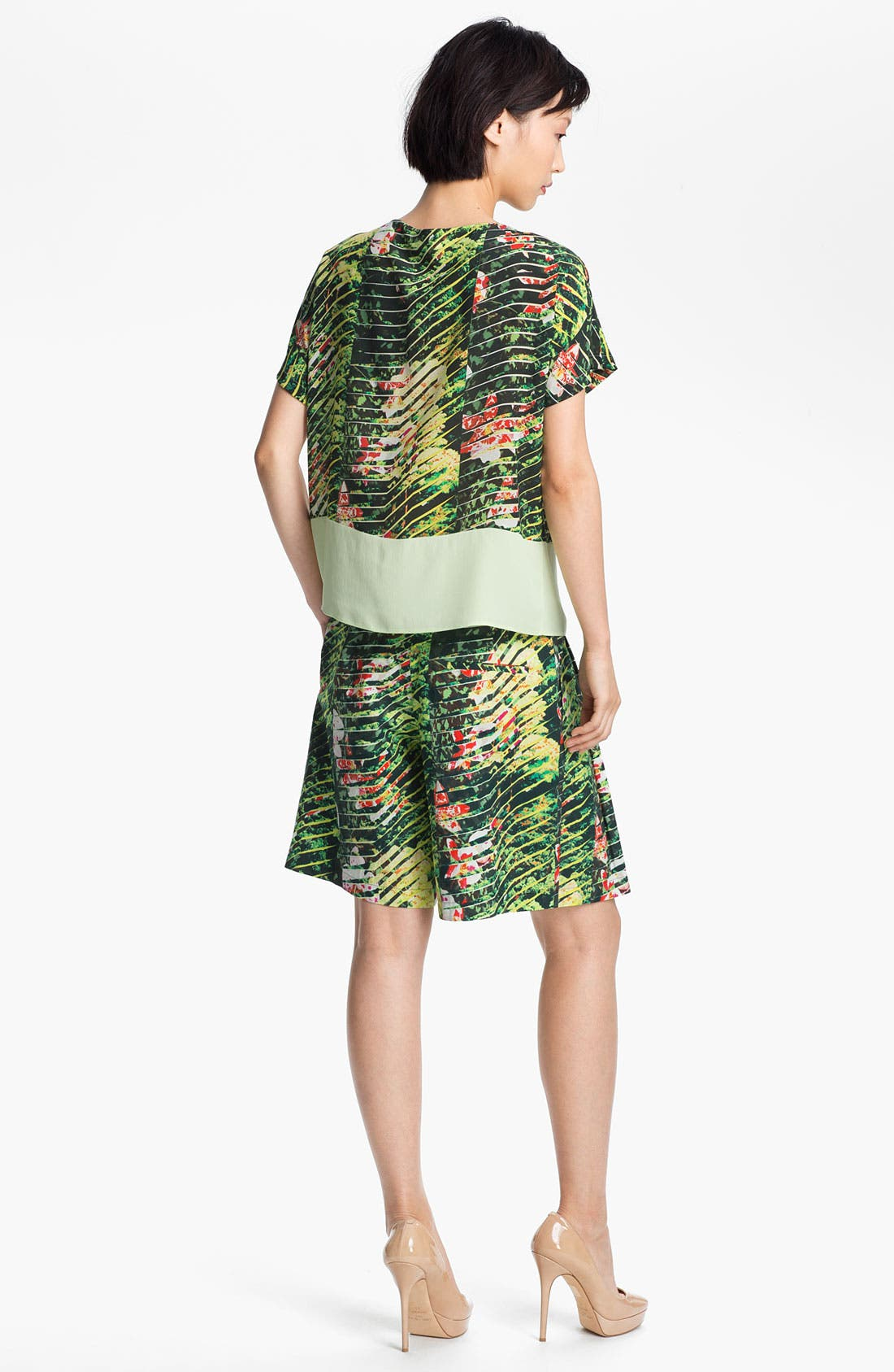 Alternate Image 4  - KENZO Orchid Print Crepe Top