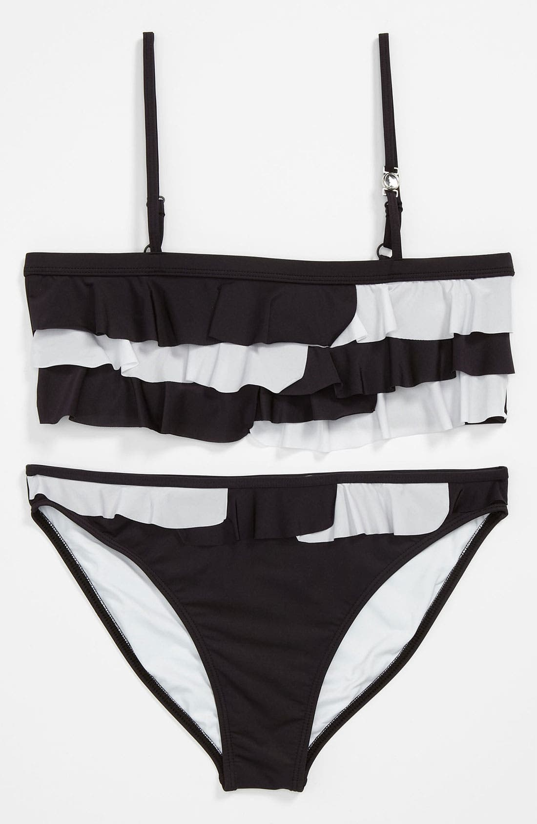 Main Image - Armani Junior Two Piece Swimsuit (Big Girls)