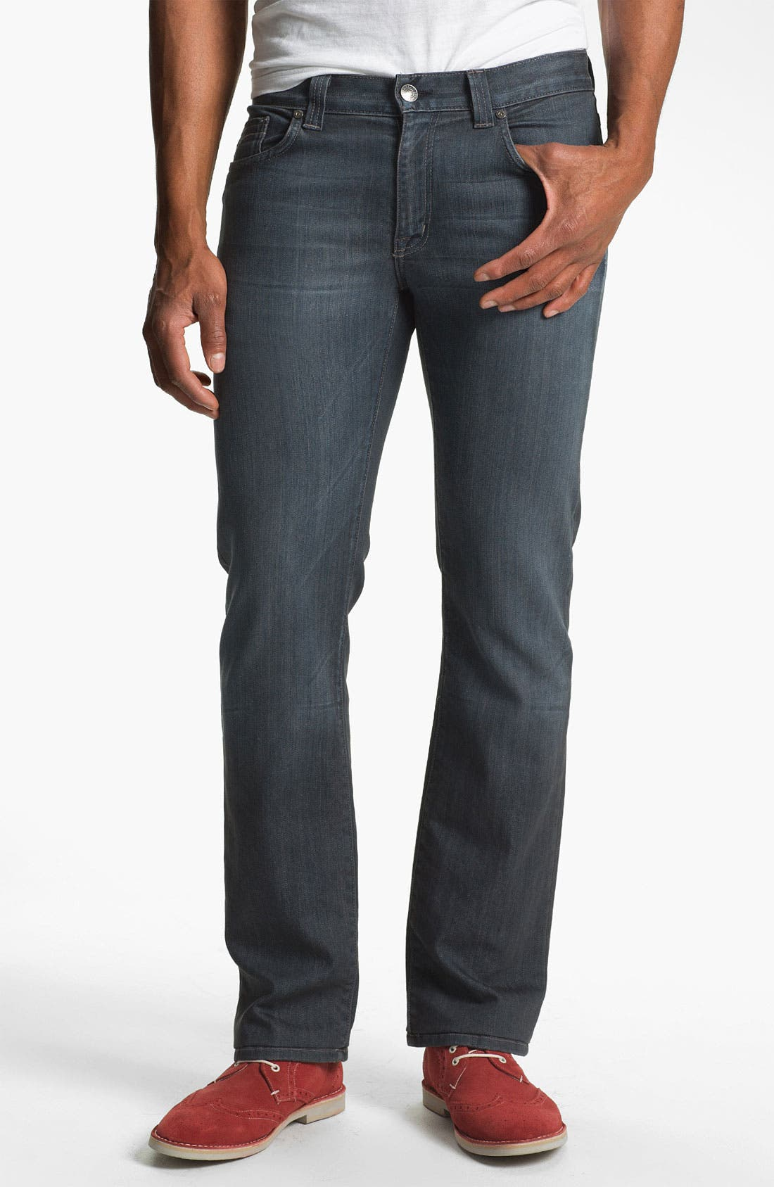 Alternate Image 1 Selected - Fidelity Denim '5011' Straight Leg Jeans (Diego Steel)