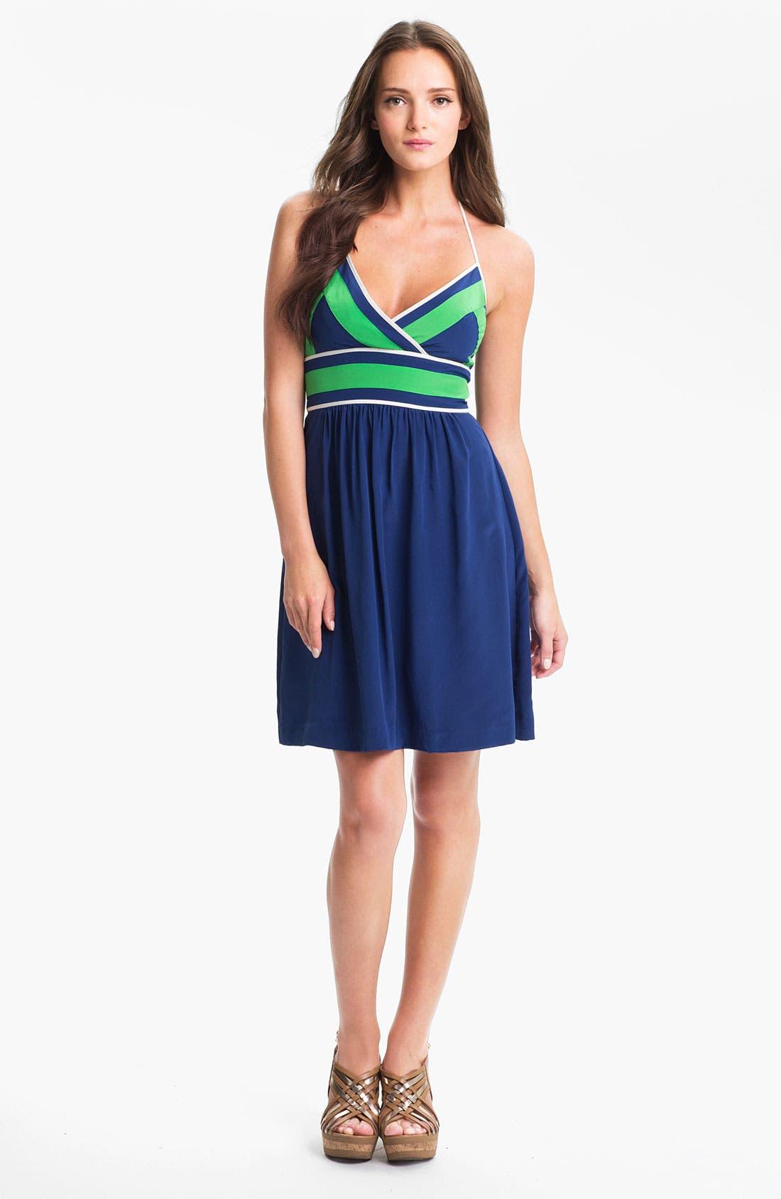 Main Image - Trina Turk 'Volly' Surplice Silk Halter Dress