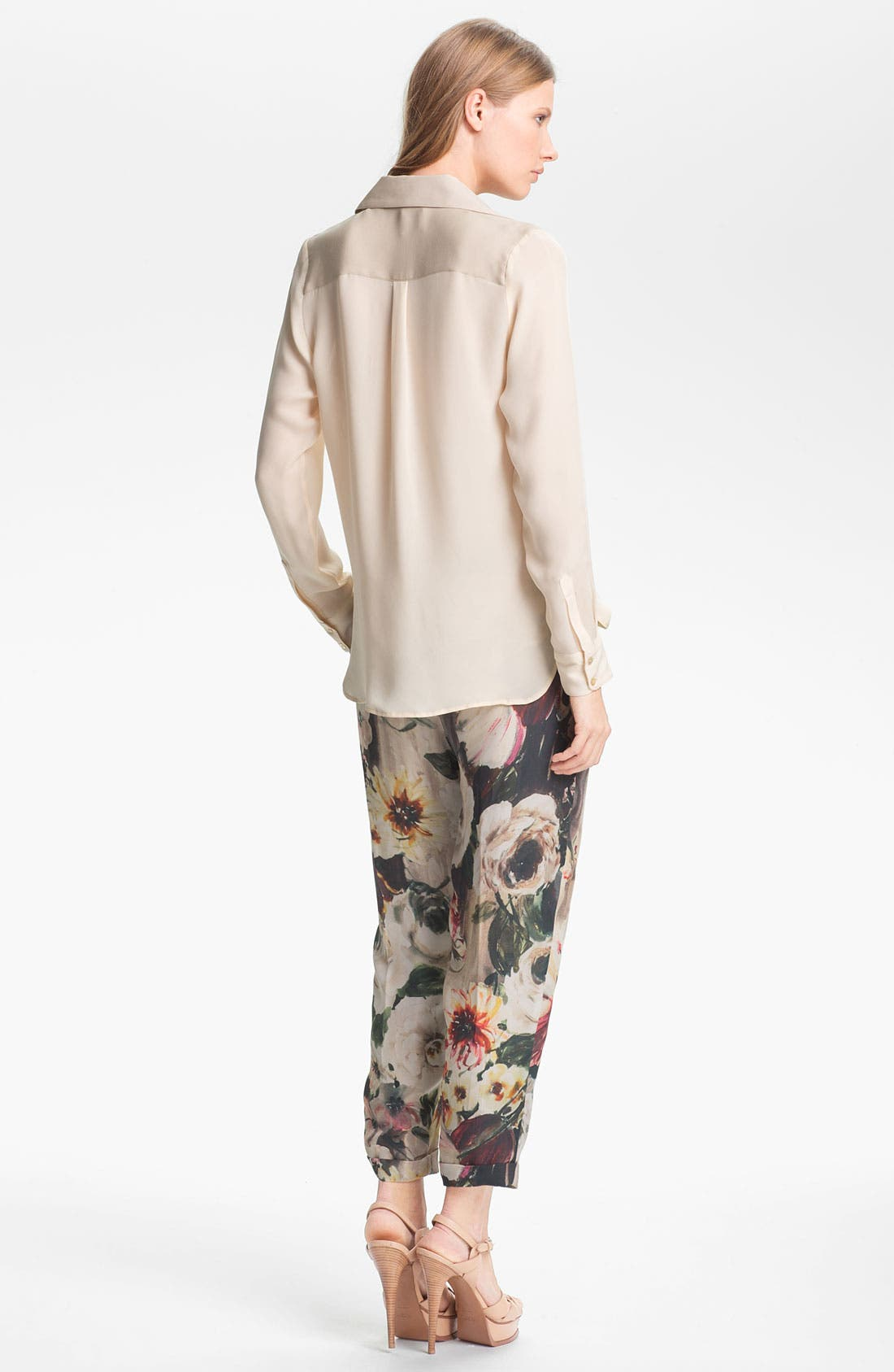 Alternate Image 3  - Haute Hippie Floral Print Drawstring Trousers