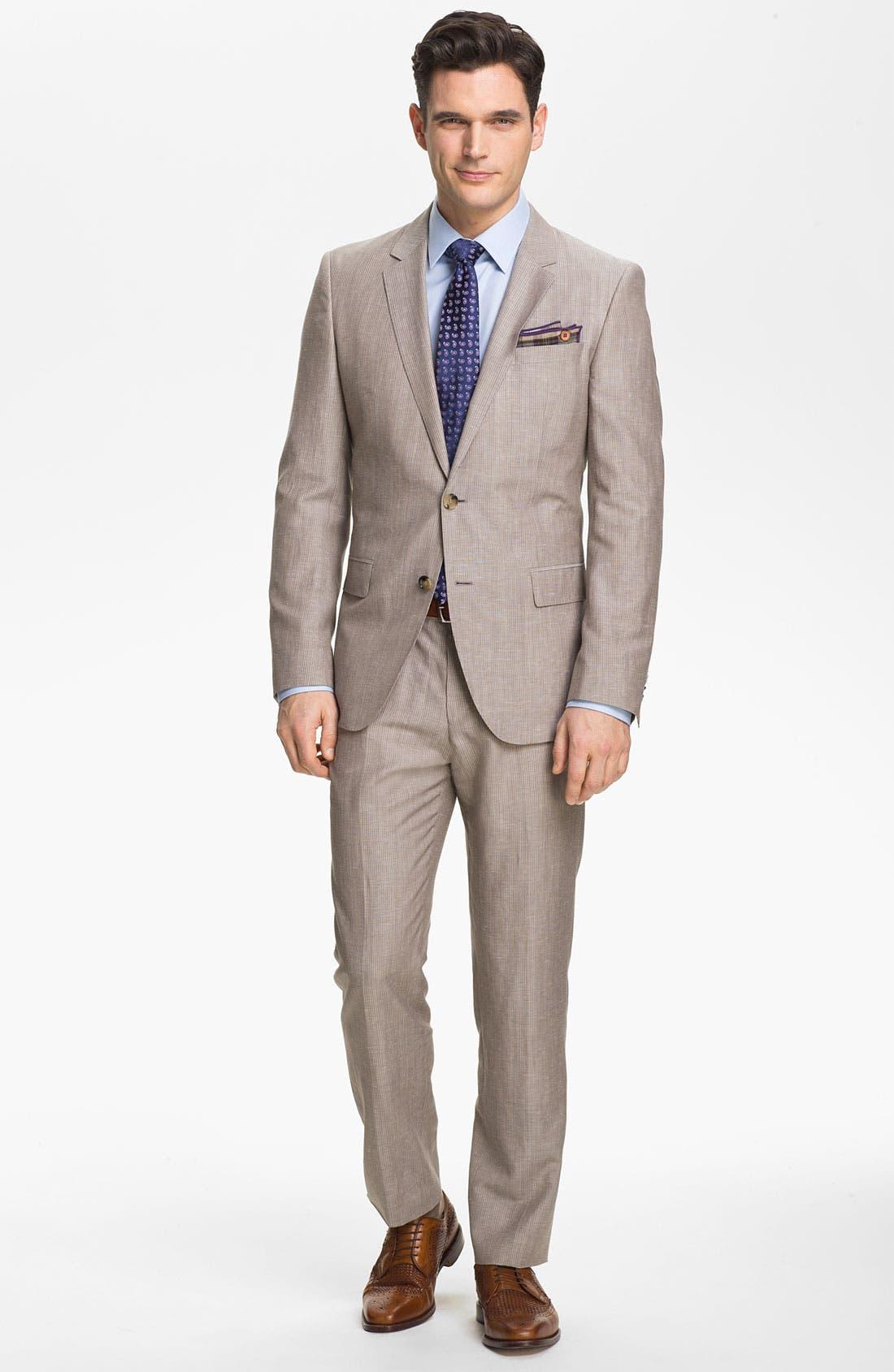 Alternate Image 2  - BOSS Black 'Hedge/Gense' Trim Fit Stripe Suit