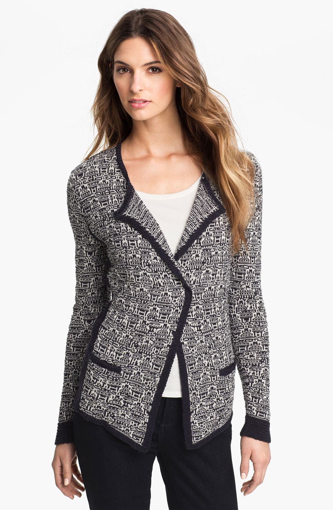 Alternate Image 1 Selected - Nic + Zoe 'Mixy' Sweater Jacket (Petite)