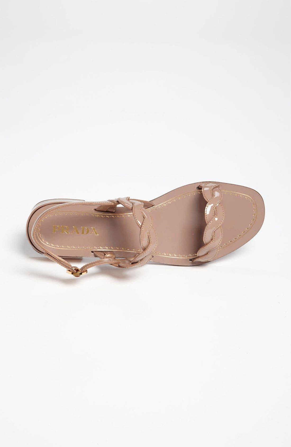 Alternate Image 3  - Prada Braided Two Strap Sandal