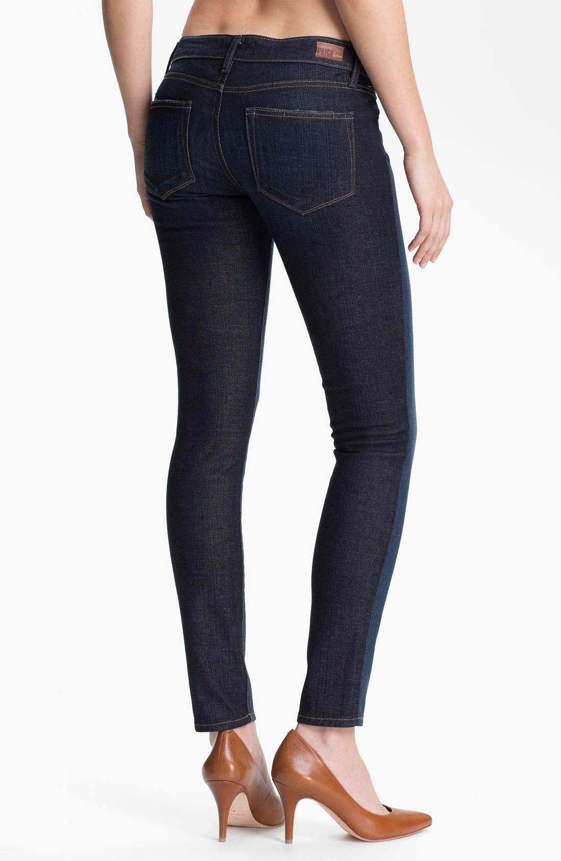 Alternate Image 2  - Paige Denim 'Emily' Two Tone Ultra Skinny Jeans (Kala)