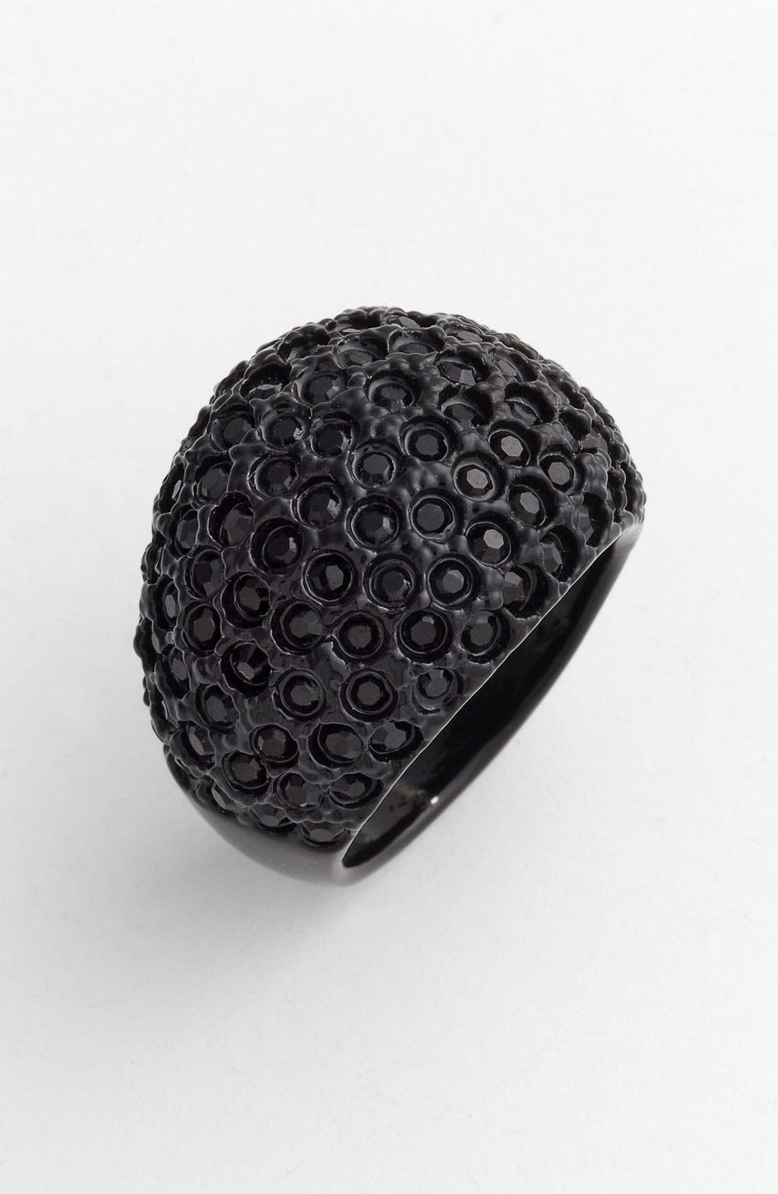 Alternate Image 1 Selected - St. John Collection 'Black Clad' Swarovski Crystal Dome Ring