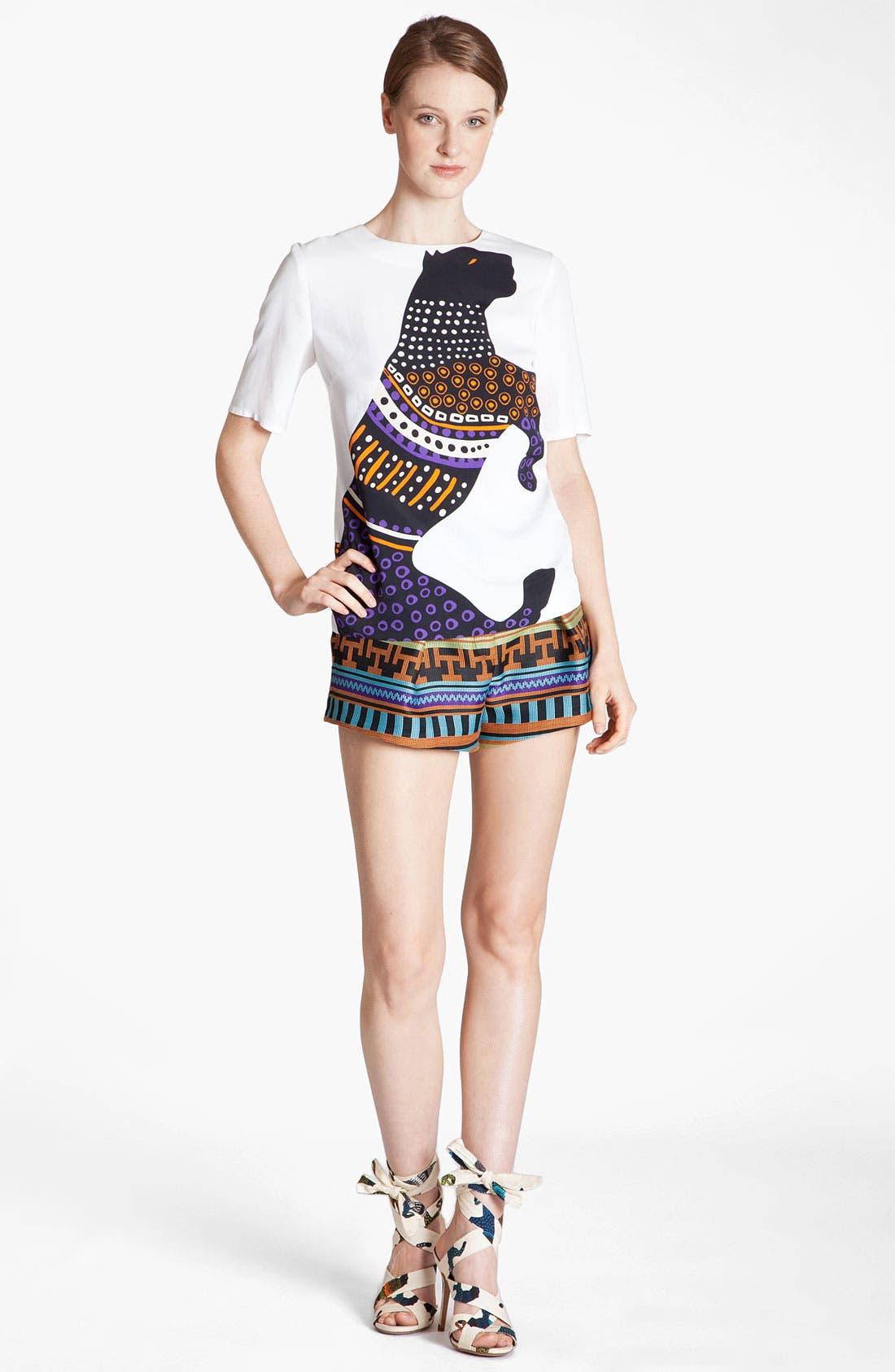 MSGM Top & Shorts,                         Main,                         color, White Black