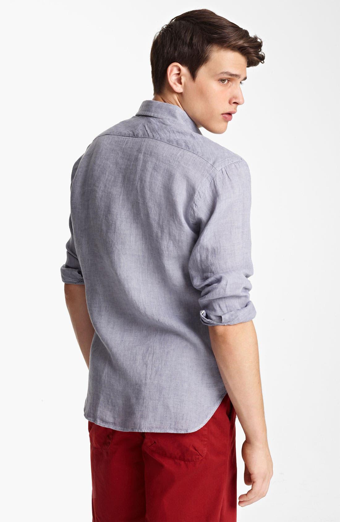 Alternate Image 2  - Billy Reid 'Walland' Linen Shirt