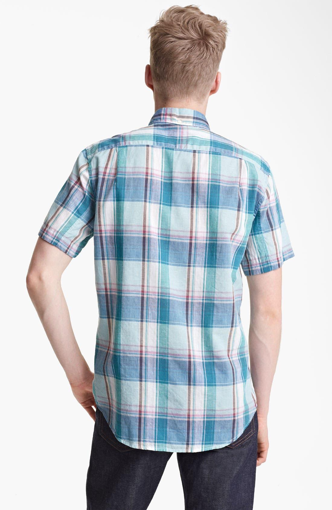 Alternate Image 2  - Steven Alan Plaid Pattern Shirt