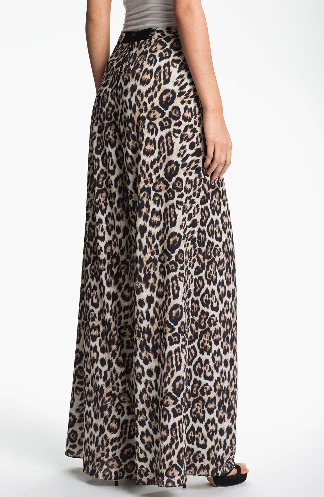 Alternate Image 2  - Alice + Olivia Leopard Print Wide Leg Pants