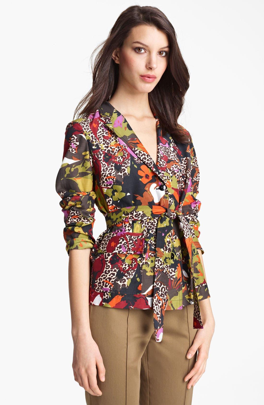 Main Image - Max Mara Belted Floral Print Jacket