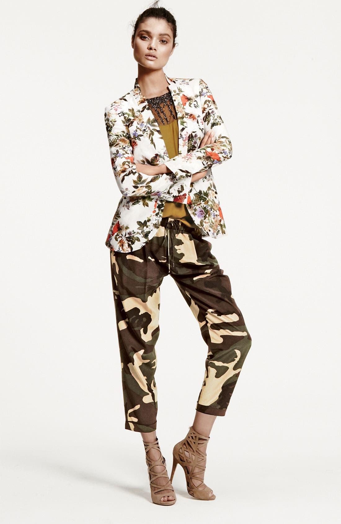 Alternate Image 8  - Haute Hippie Floral Print Silk Blazer