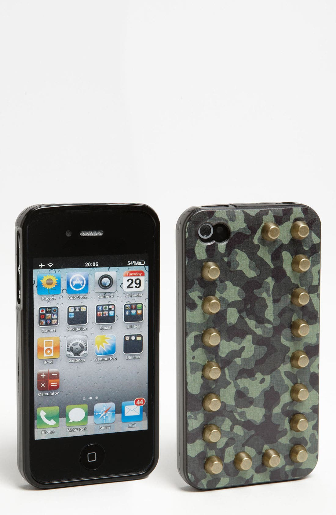 Alternate Image 1 Selected - Shine 32 Camo Stud iPhone 4 & 4S Case