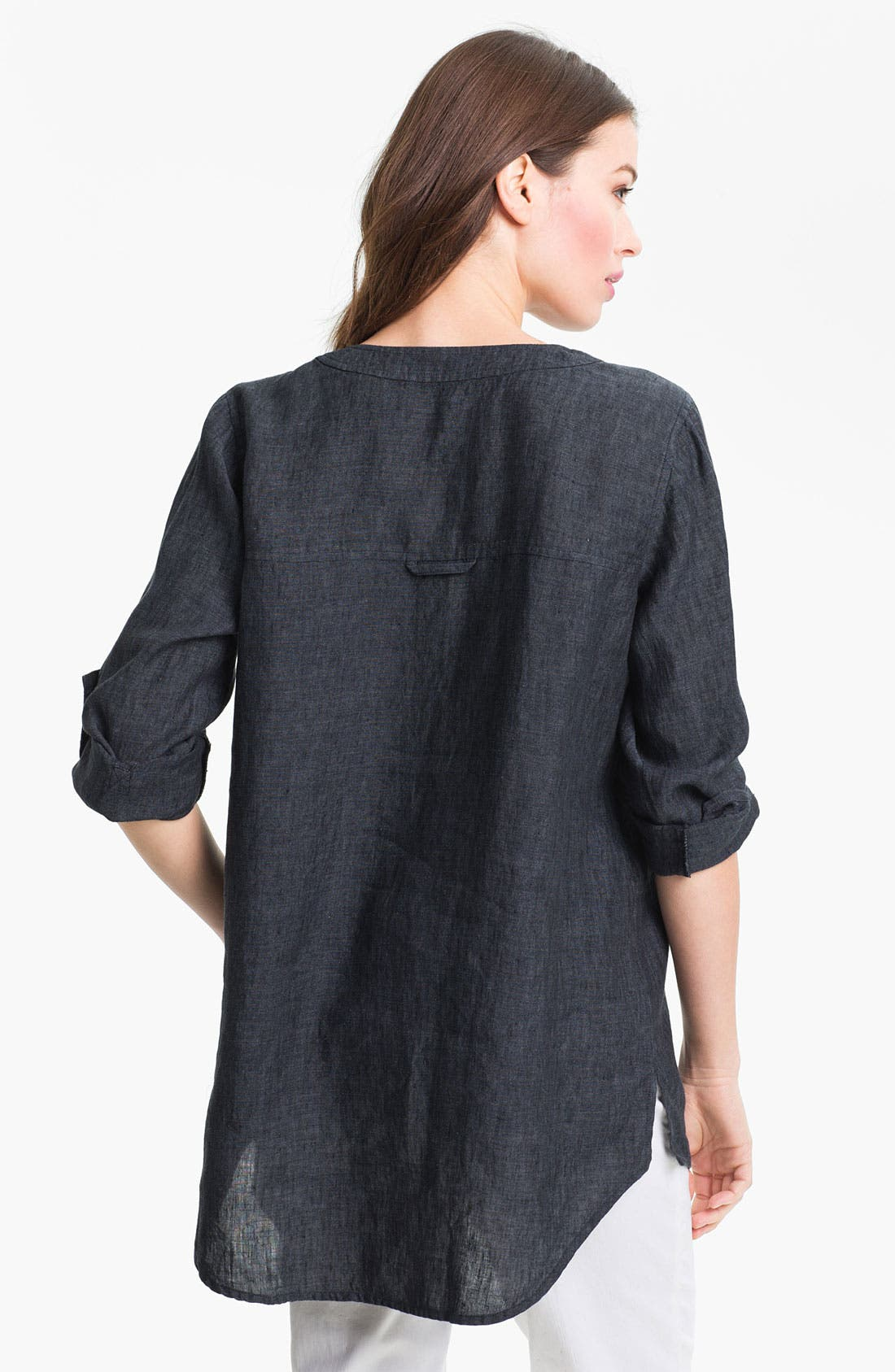 Alternate Image 2  - Eileen Fisher Washed Linen Tunic (Regular & Petite)