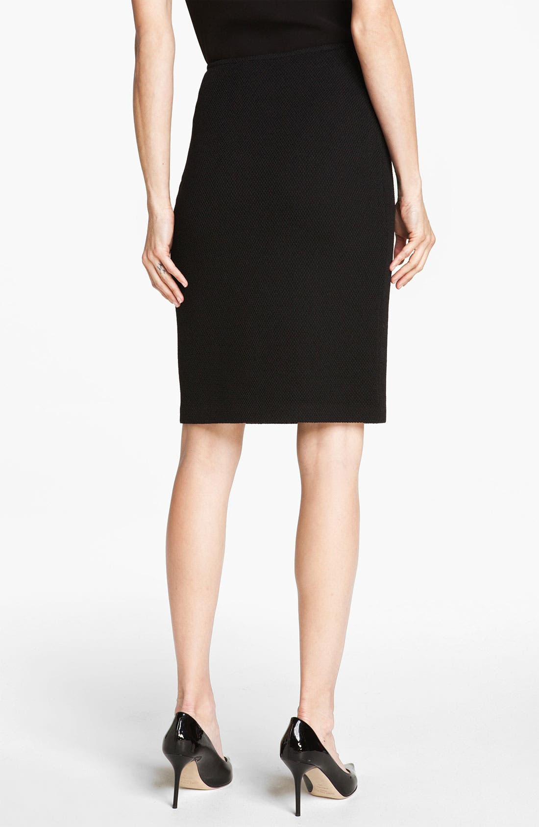 Alternate Image 4  - St. John Collection Mod Piqué Pencil Skirt
