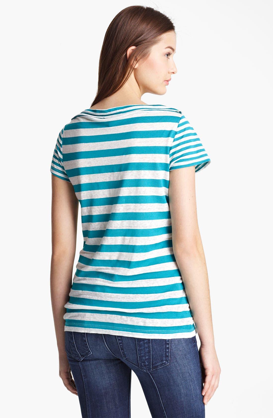 Alternate Image 2  - Burberry Brit Short Sleeve Stripe Tee