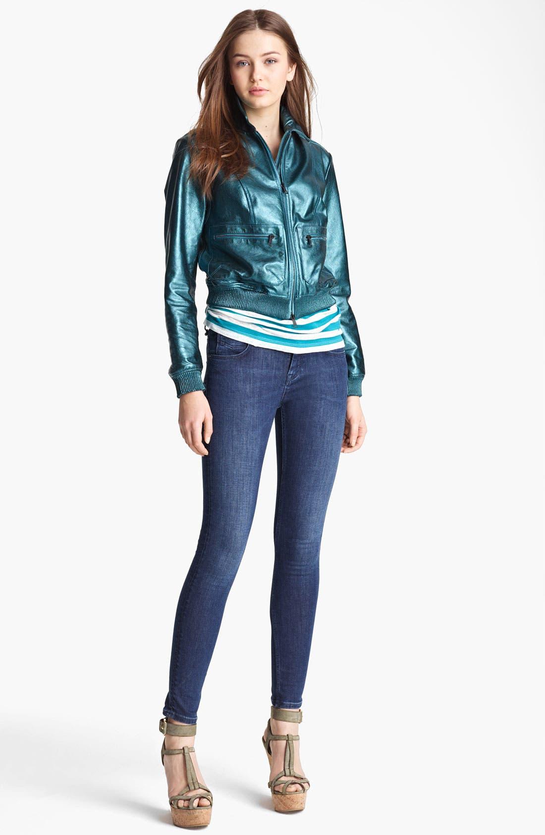 Alternate Image 4  - Burberry Brit 'Stantonbury' Leather Jacket (Online Only)