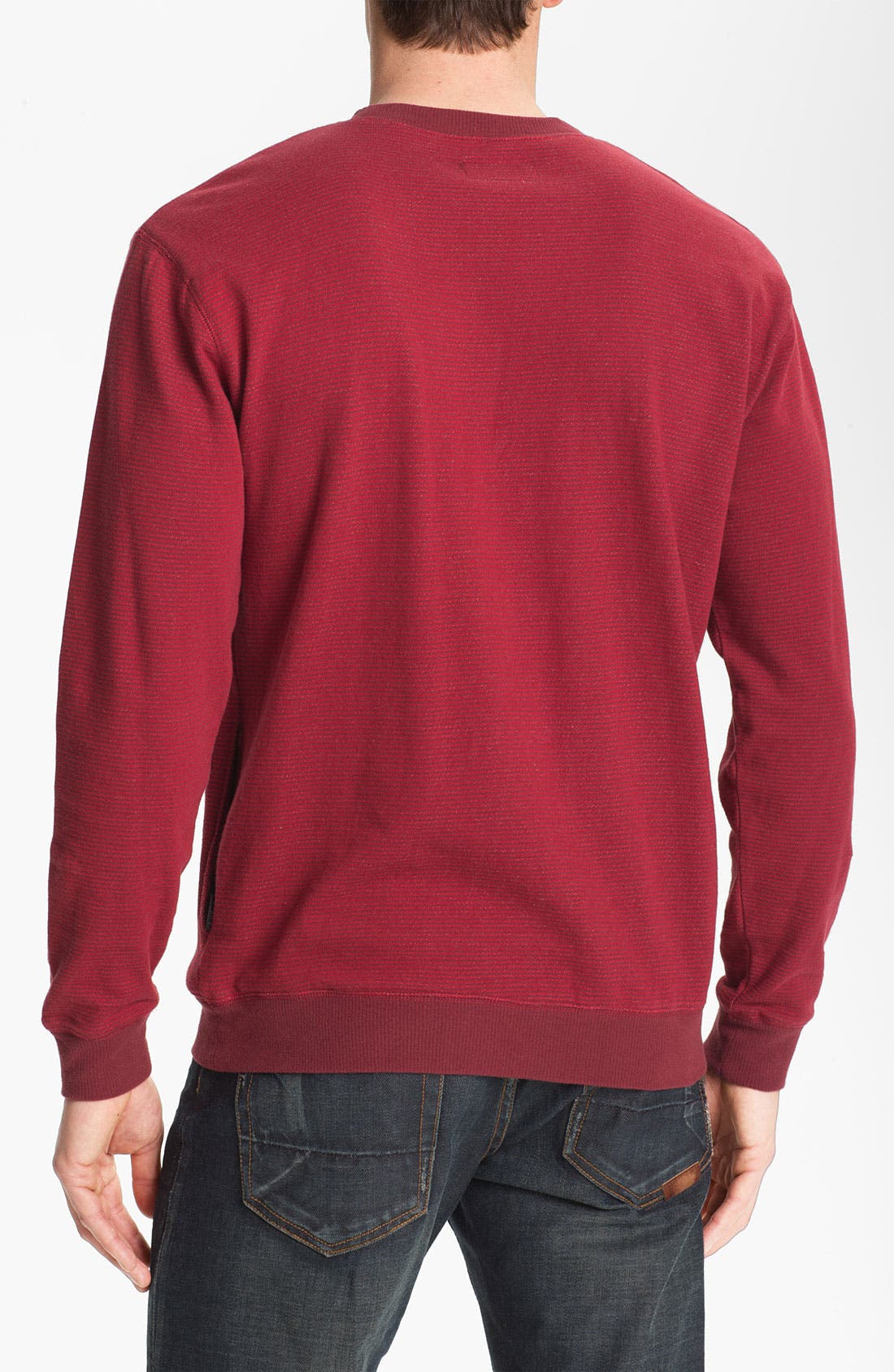 Alternate Image 2  - Brixton 'Partisan' Stripe French Terry Crewneck Sweatshirt