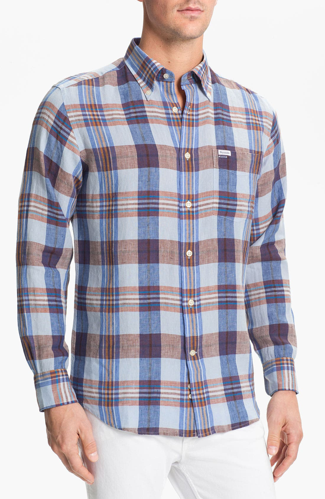 Alternate Image 1 Selected - Façonnable Club Fit Linen Sport Shirt