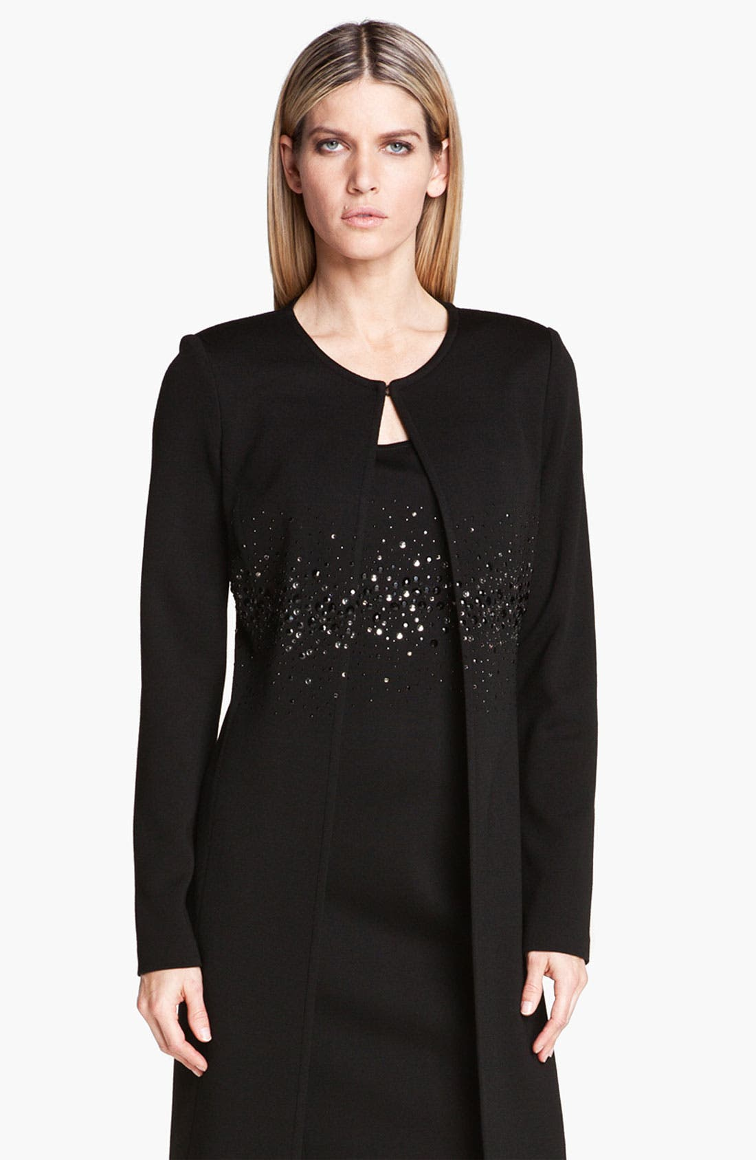 Main Image - St. John Collection Sequin Detail Milano Knit Coat